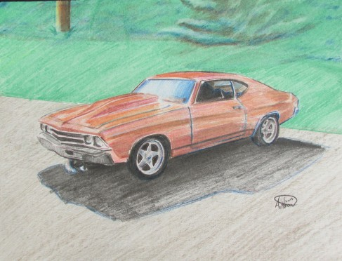 Custom car drawings, classic cars, custom drawings portraits and design by andrew horvath.